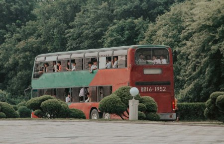 Public transport in Pyongyang North Korea